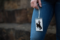Neil® Plastic Bucking Horse Luggage Tag