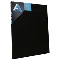 Classic Cotton Stretched Canvas Black, Studio Canvas 18X24