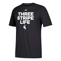 Adidas® Ultimate Performance 3 Stripe Life Tee