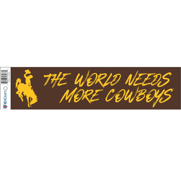 Wincraft® The World Needs More Cowboys Bumper Sticker (SKU 139398471429)