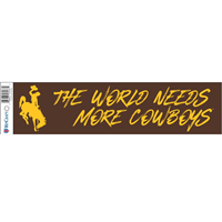 The World Needs More Cowboys Bumper Sticker