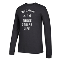 Adidas® Long Sleeve Triblend Three Stripe Life Tee