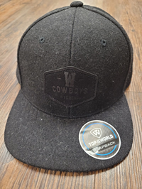 Top of the World® W Cowboys Tonal Black Cap