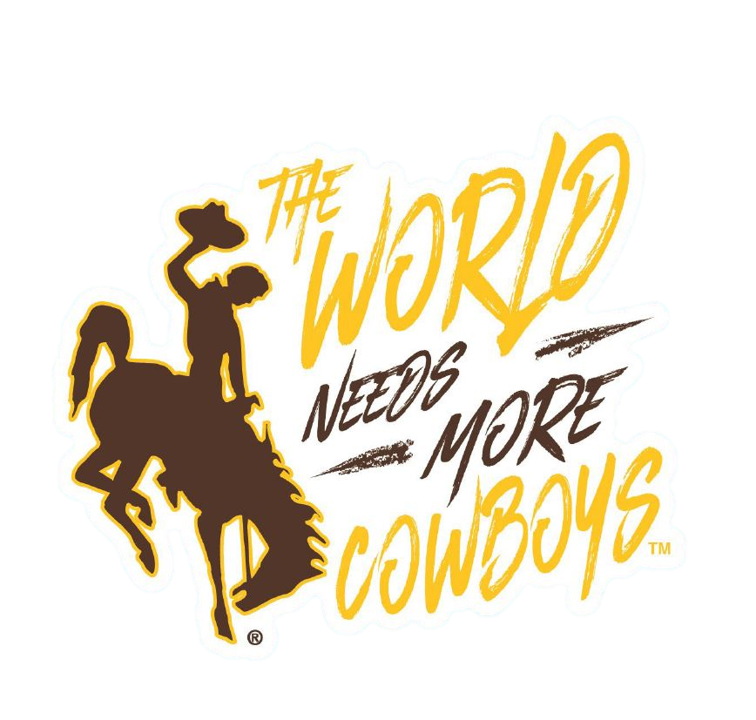 Wincraft® The World Needs More Cowboys Perfect Cut Decal (SKU 139479581429)