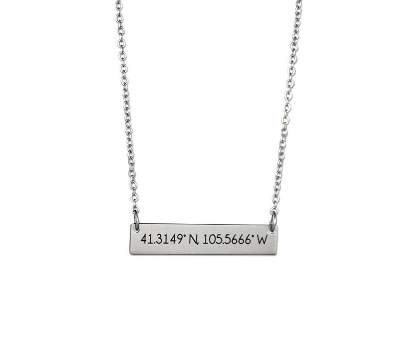 Fan Frenzy® University of Wyoming Coordinates Necklace (SKU 139599821079)