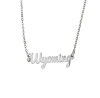 Fan Frenzy® Wyoming Script Necklace