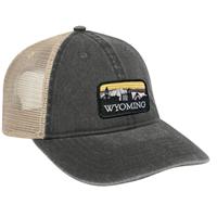 USCAPE® Vintage Washed Mesh Retro Skyline Patch Cap