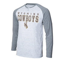 College Concepts® Wyoming Cowboys Henley Long Sleeve Tee