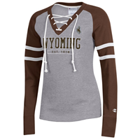 Champion® Ladies V Neck Lace Up Wyoming Crew