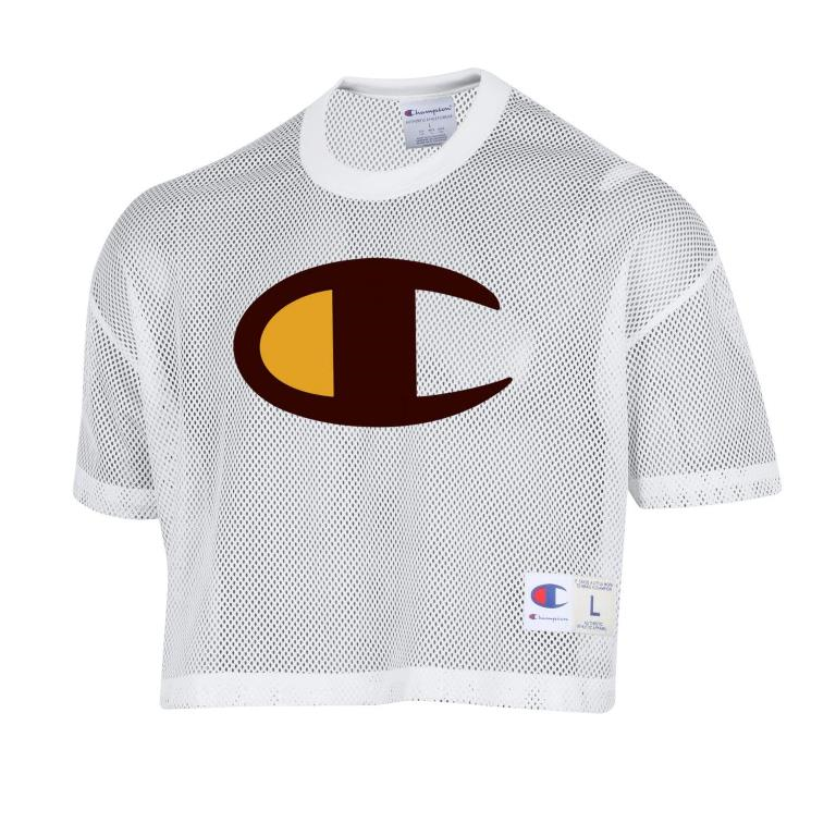 7D. Champion Branded Oversized C Crop Jersey (SKU 139619921458)