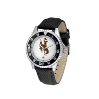 Men's Competitor Leather Band Bucking Horse Watch