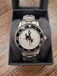Men's Competitor Steel Band Bucking Horse Watch