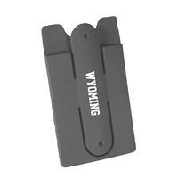 Silicone Wyoming Phone Wallet With Snap Stand