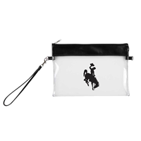 Clear Bucking Horse Gameday Wristlet