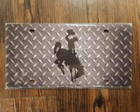 Solid Toolbox Bucking Horse License Plate