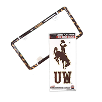 Stockdale® Wyoming Plastic License Plate Frame with Decal Set