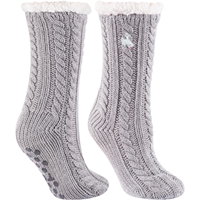 TCK® Miss Chalet Bucking Horse Fuzzy Slipper Socks