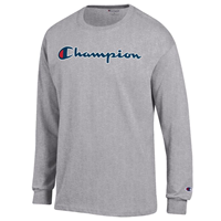 Champion® Script Branded Long Sleeve Tee