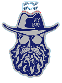 Blue 84® Beardy Cowboy Sticker