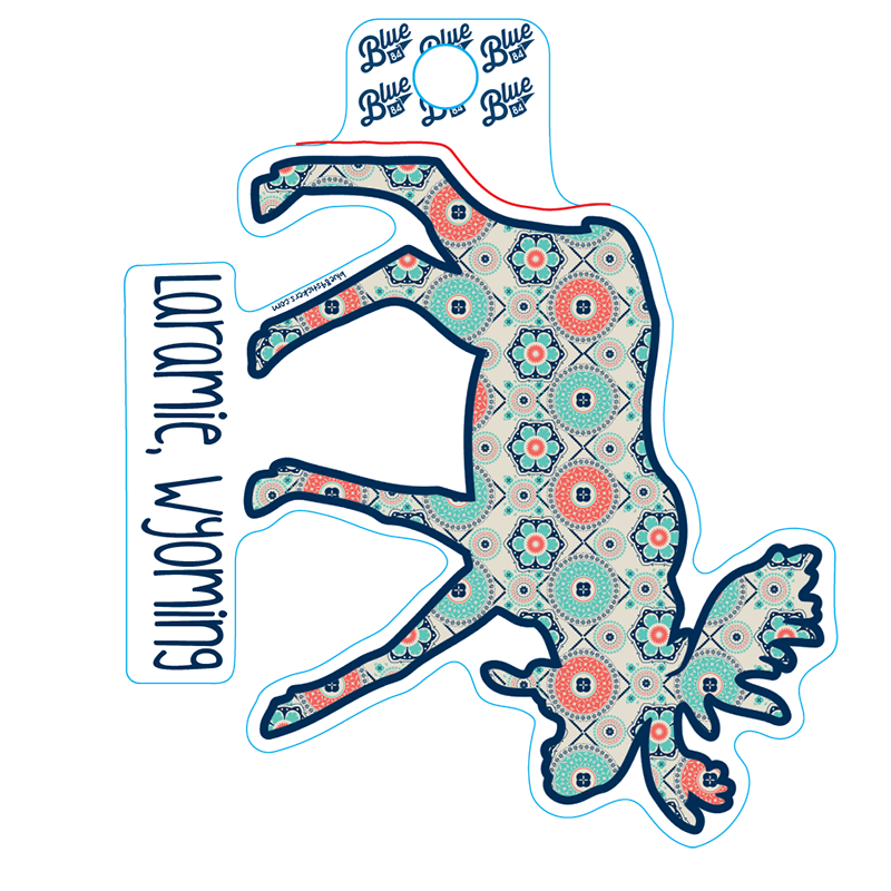 Blue 84® Pattern Moose Sticker (SKU 139809001449)