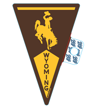 Blue 84® Wyoming Pennant Sticker