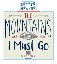Blue 84® The Mountains Are Calling Sticker
