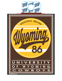 Blue 84® Wyoming Swoosh Sticker