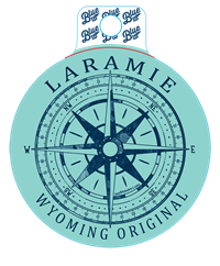 Blue 84® Laramie Wyoming Compass Sticker