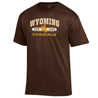 2D. Champion® Wyoming Cowgirls Tee