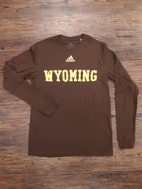 Adidas® Amplifier Long Sleeve Wyoming Tee