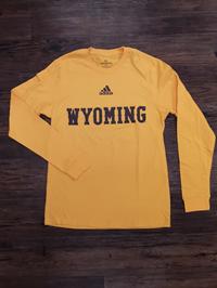 Adidas® Amplifier Long Sleeve Wyoming Tee