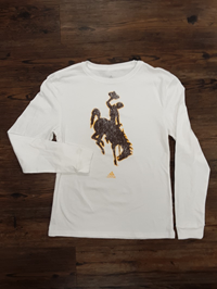 Adidas® Ladies Amplifier Long Sleeve Bucking Horse Tee