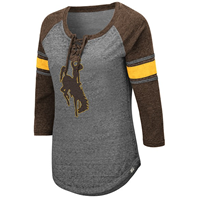 Colosseum® Ladies Lace Up Wyoming 3/4 Sleeve Tee