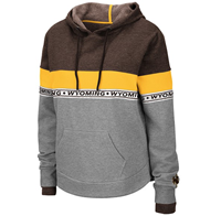 Colosseum® Ladies Cropped Striped Wyoming Hoodie