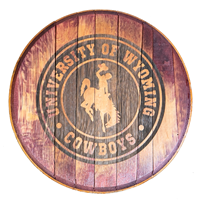 4A. Timeless Etchings® Barrelhead University of Wyoming Sign