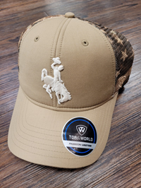 Top of the World® Tan Sublimated Flag Mesh Bucking Horse Cap