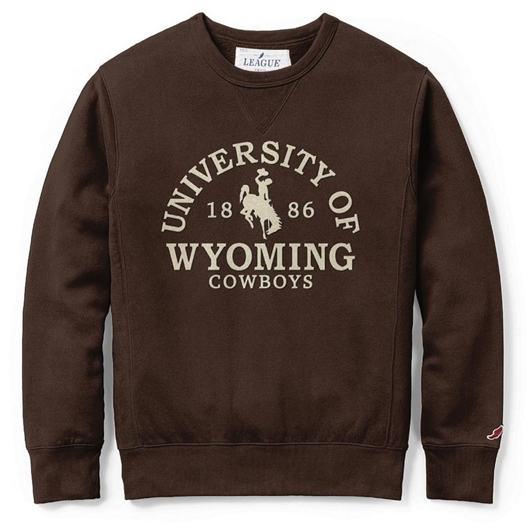 3A. League® Soft Fleece University of Wyoming Crew (SKU 140057491458)