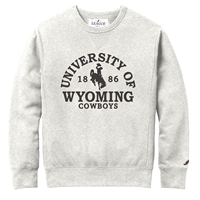 3A. League® Soft Fleece University of Wyoming Crew