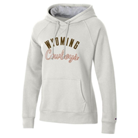 Champion® Rochester Fleece Ladies Wyoming Cowboys Hoodie
