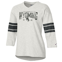 Champion® Rochester Slub Ladies University of Wyoming Baseball Tee