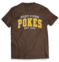MV Sport® University of Wyoming Pokes Tee