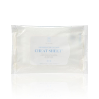 Higher Education Skincare Cheat Sheet Makeup Remover Cleansing Wipes