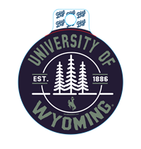 Blue 84® Circle Center Pines University of Wyoming Sticker