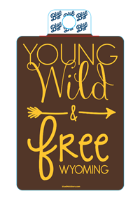Blue 84® Young Wild and Free Sticker
