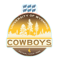 Blue 84® Ombre University Of Wyoming Sticker