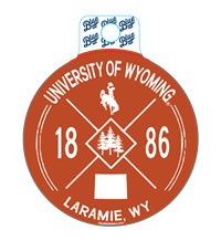 Blue 84® X Circle Design University of Wyoming Sticker