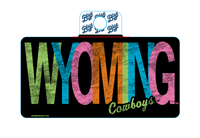 Blue 84® Neon Wyoming Cowboys Sticker