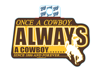 Blue 84® Once a Cowboy Sticker