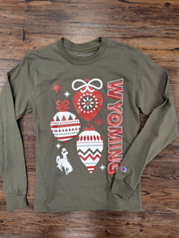 Champion® Long Sleeve Tee Wyoming Ornaments