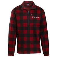 Uscape® Landway® Wyoming Buffalo Plaid Quarter Zip Fleece Sweater